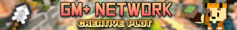 Banner for GM+ Network Minecraft server