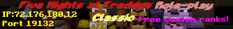 Banner for MCPE FNaF Role-Play: Classic server