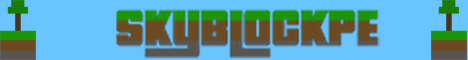 Banner for SkyBlockPE server